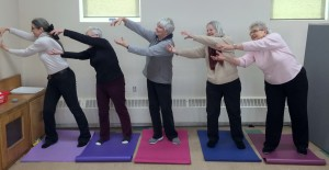 Ladies at Church of the Holy Spirit doing Embracing the Sun and the Moon from the Qigong Golden Chi Ball Series
